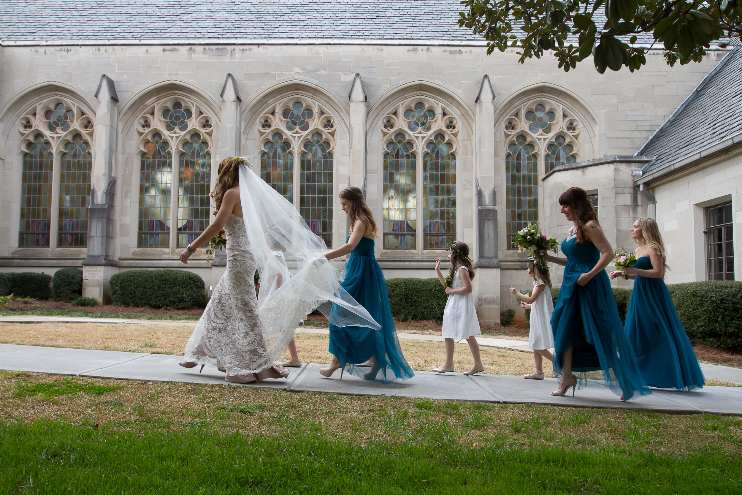 Tim and Vanessa Wedding at Emory Presbyterian Church and Trolley Barn