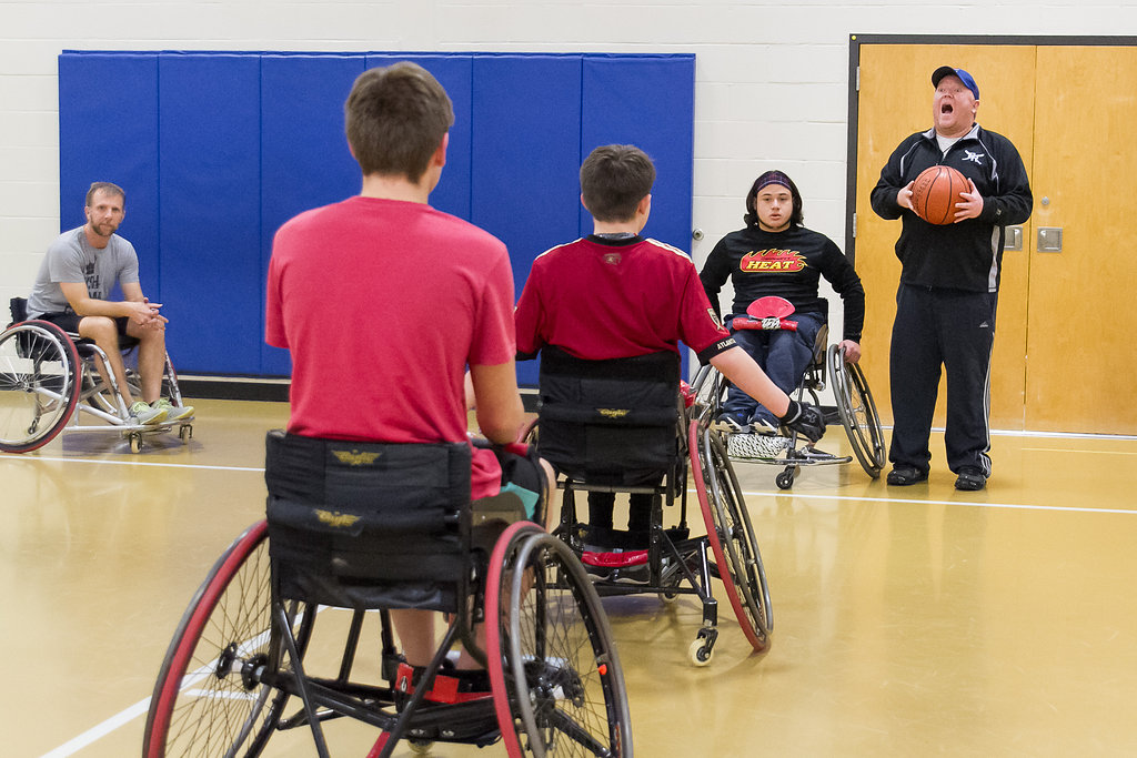 Derek Claros, Gwinnett Heat Basketball Practice, Hull Middle School in Duluth