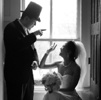 groom in top hat