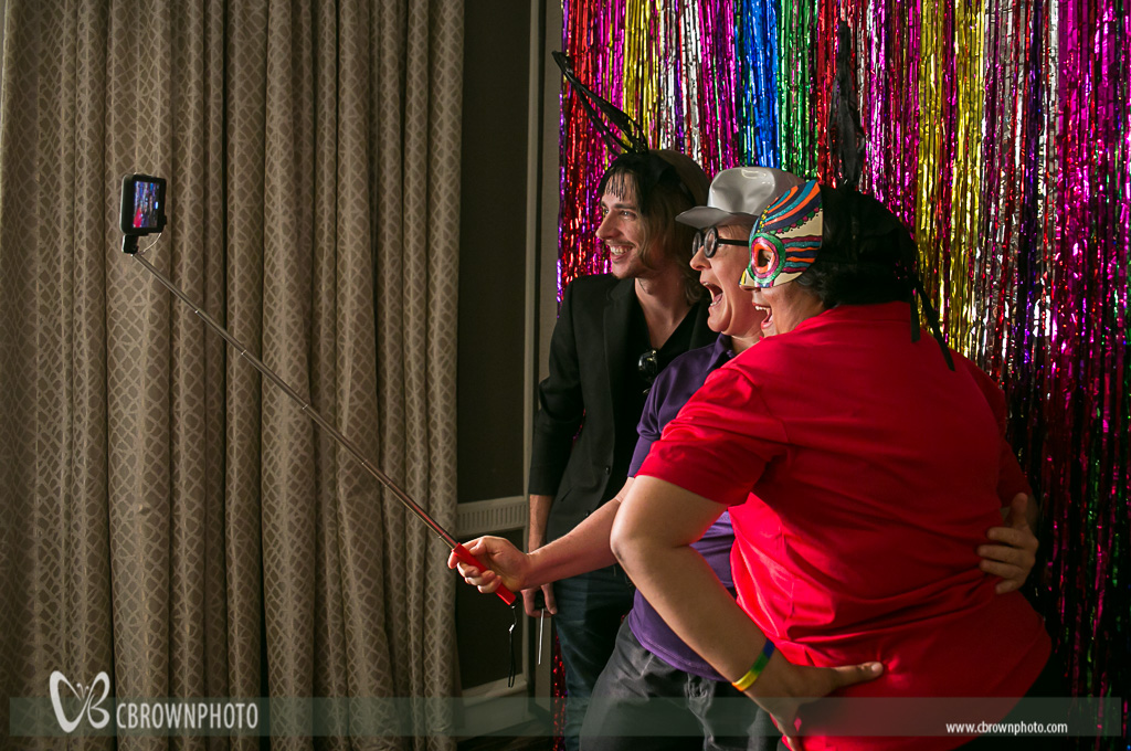Networking at the photo booth provided by Handy Entertainment.