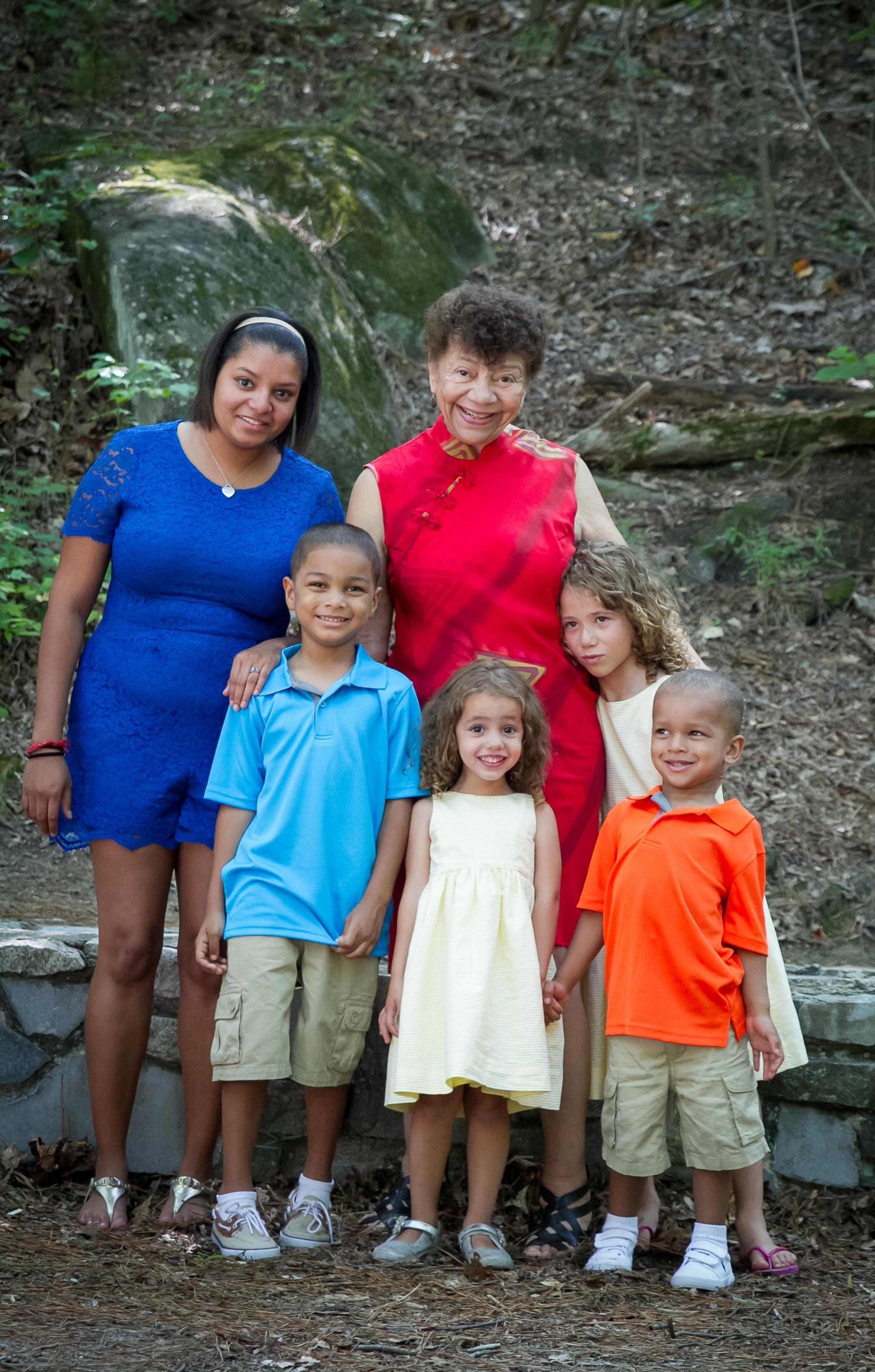 Alexis and family, Kay's 75 birthday, family portrait, Stone Mountain