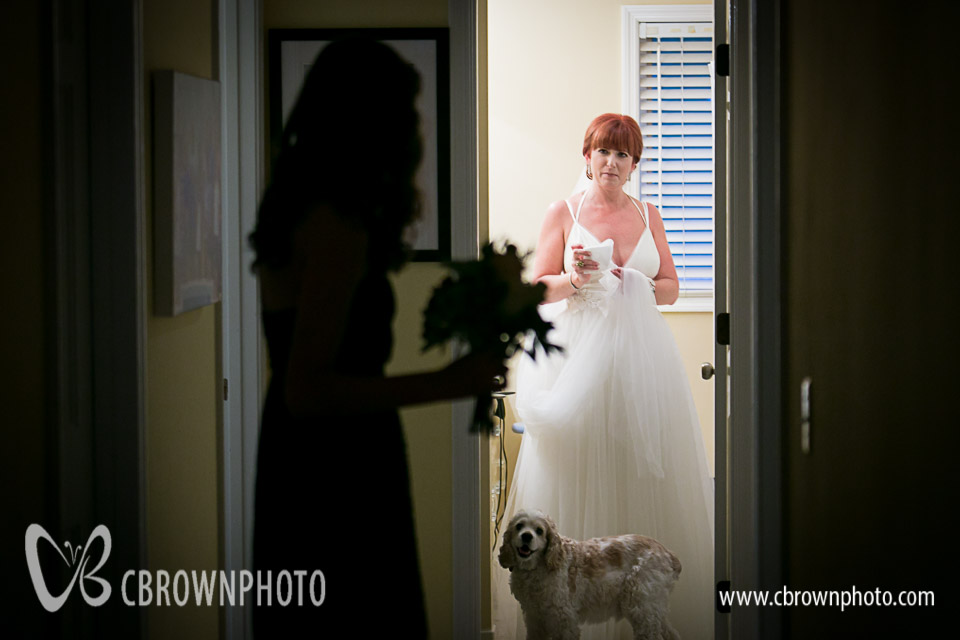 Nem's daughter Kira, the flower girl, getting ready with Rachel.