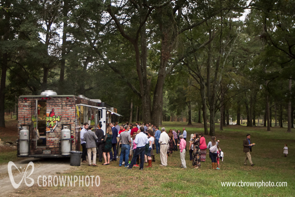 Two food trucks with great food. My favorite item -- the fried green tomato biscuit.
