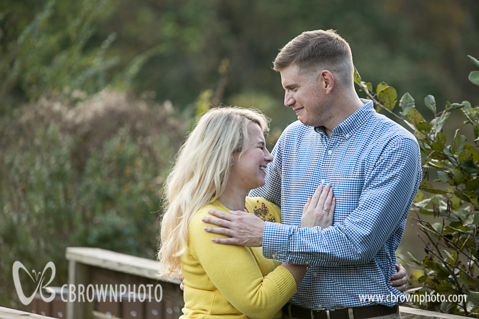 Colleen and Josh Engagement Session in Pine Lake