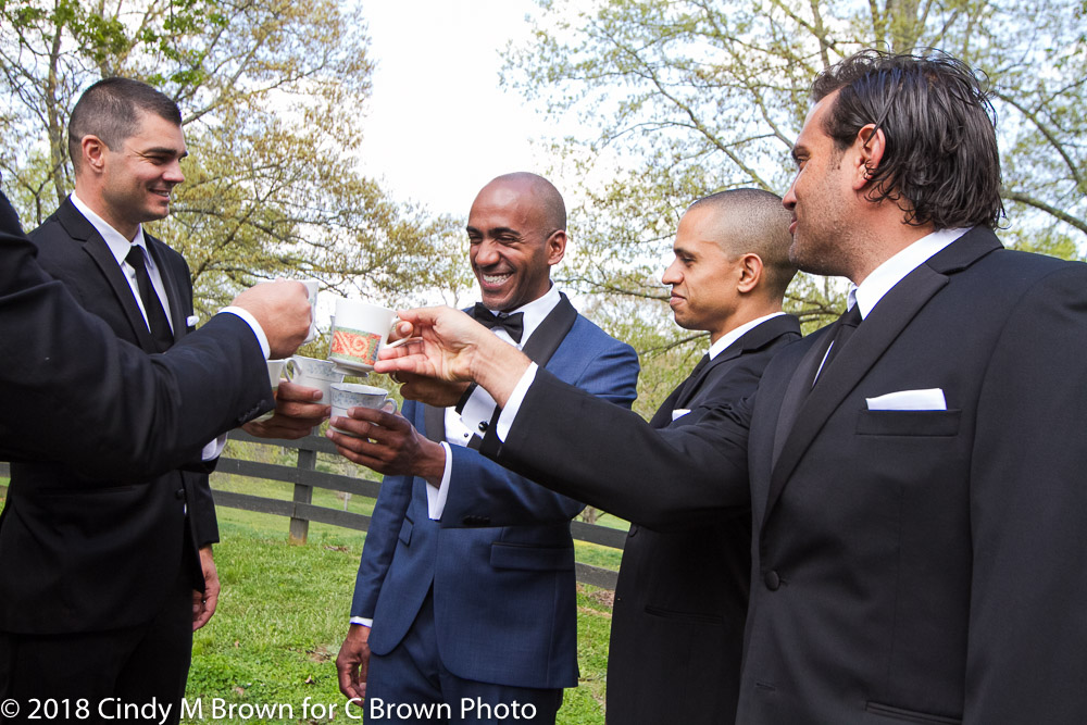 A toast with the guys.