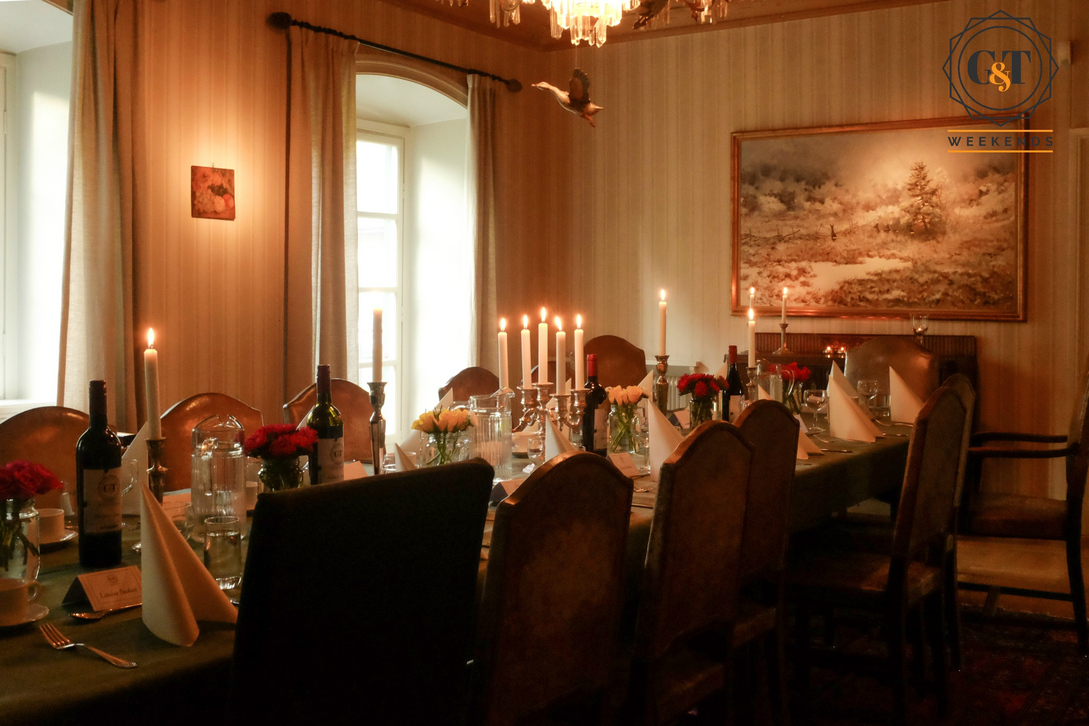 Luxury dining in our Swedish lakehouse