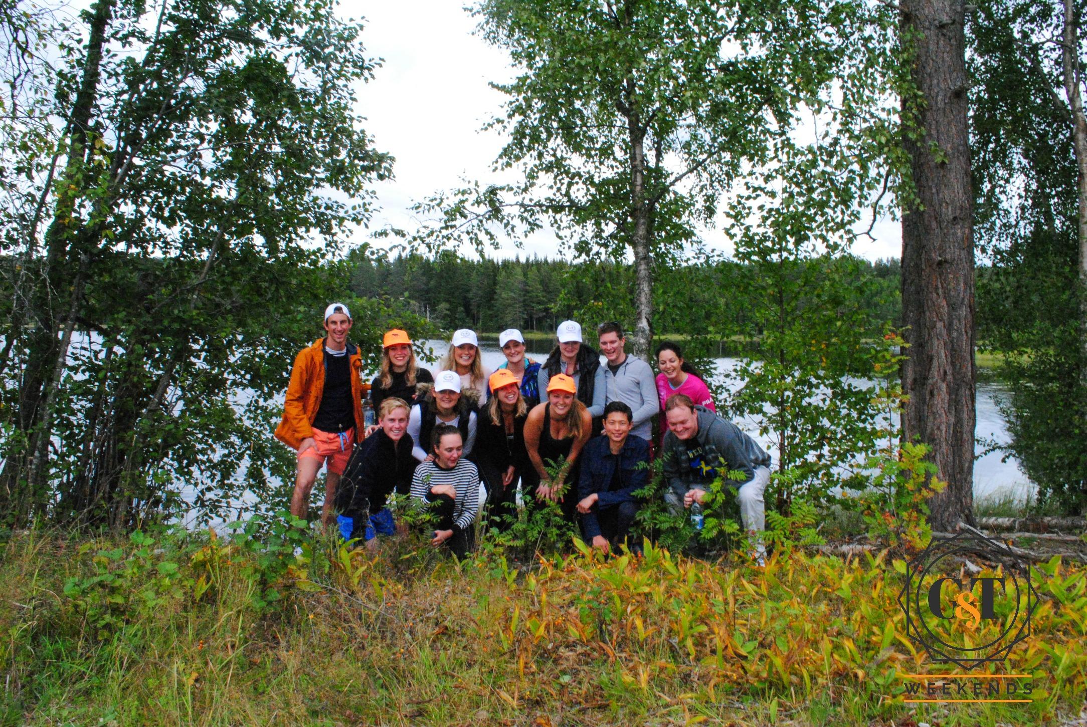 Hiking near Lake Skidden in Sweden