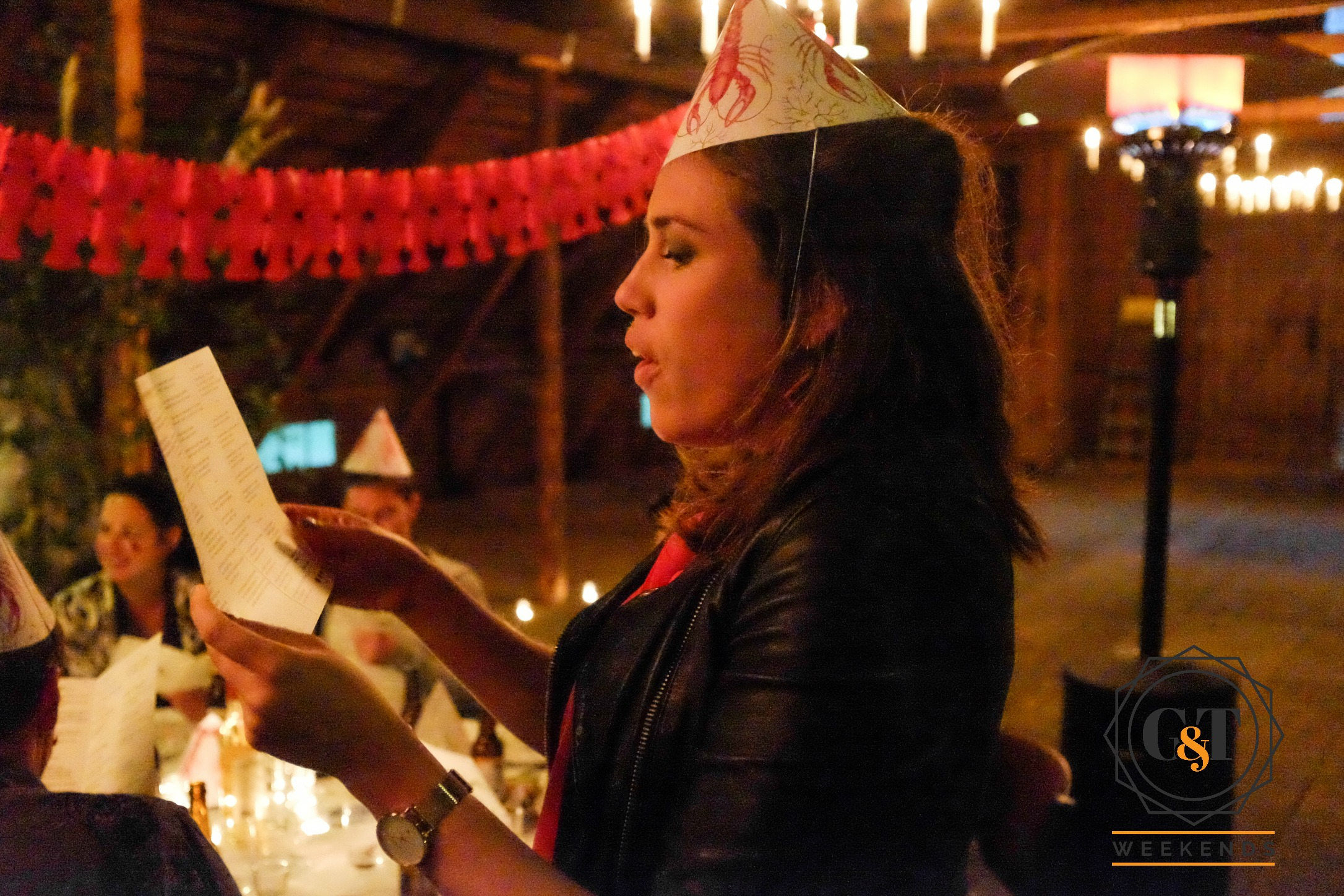 Our Swedish toast master hosting our Swedish Crayfish Party