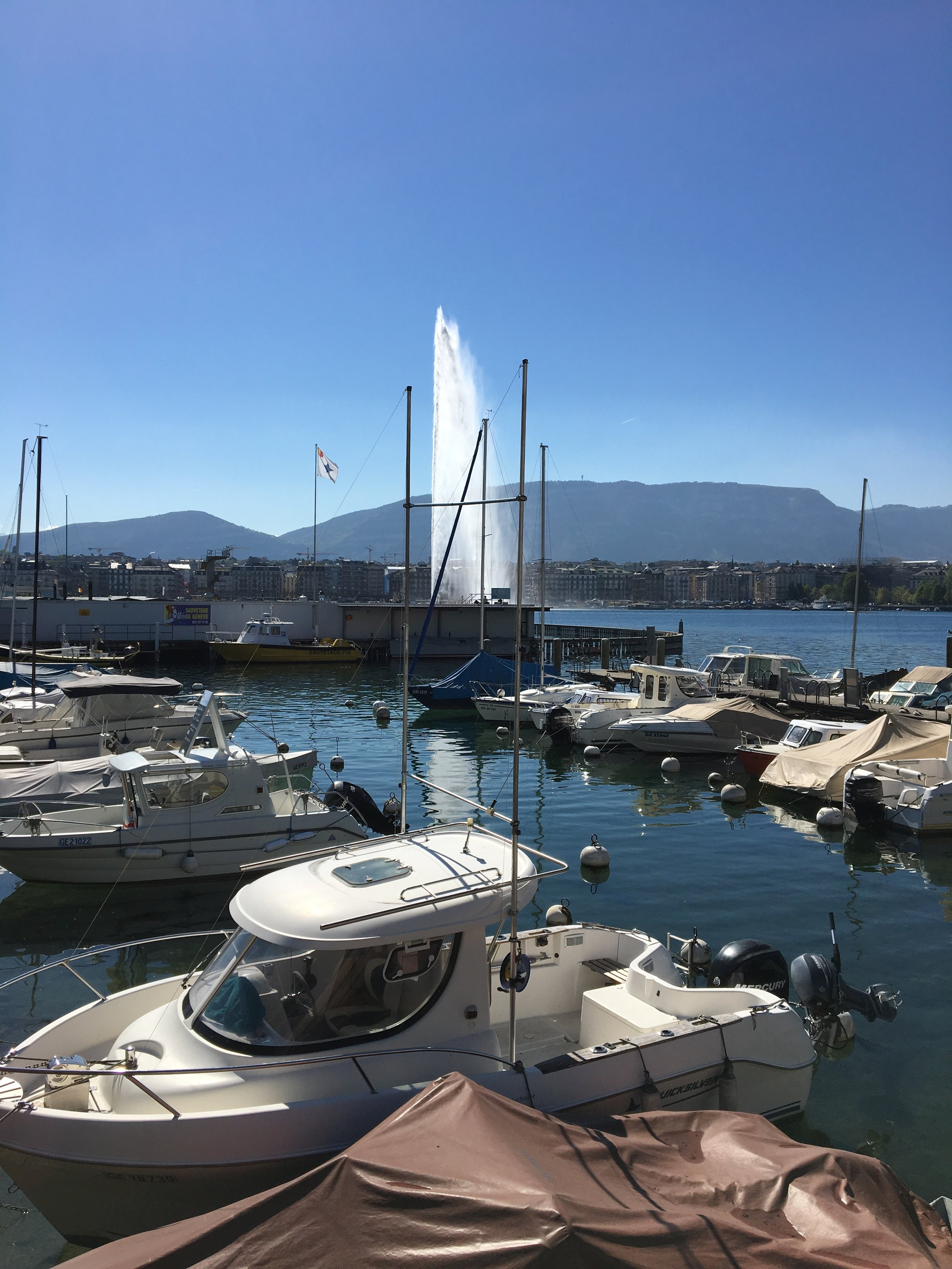 Geneva lake lac leman marina