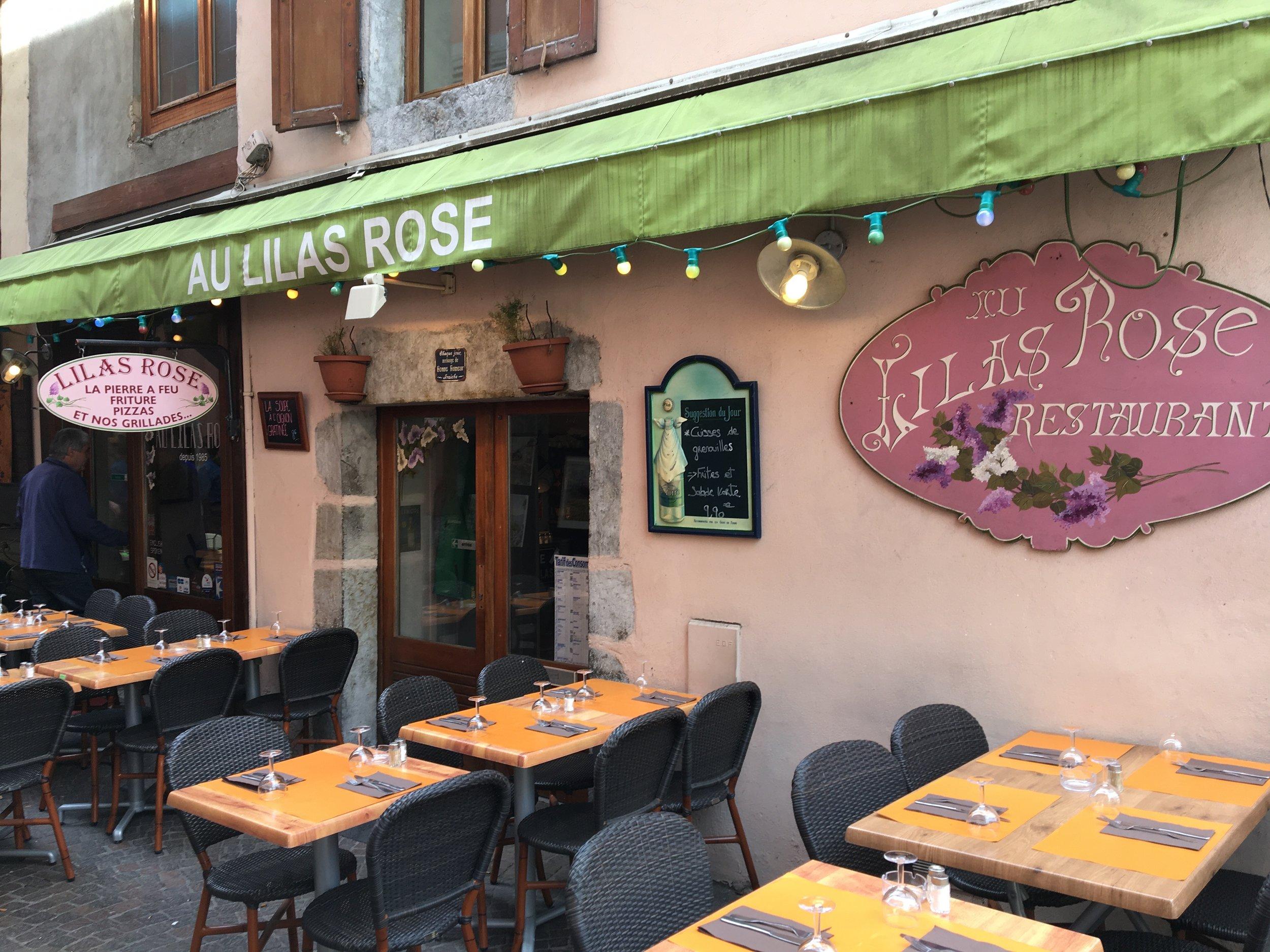 lilas rose restaurant annecy