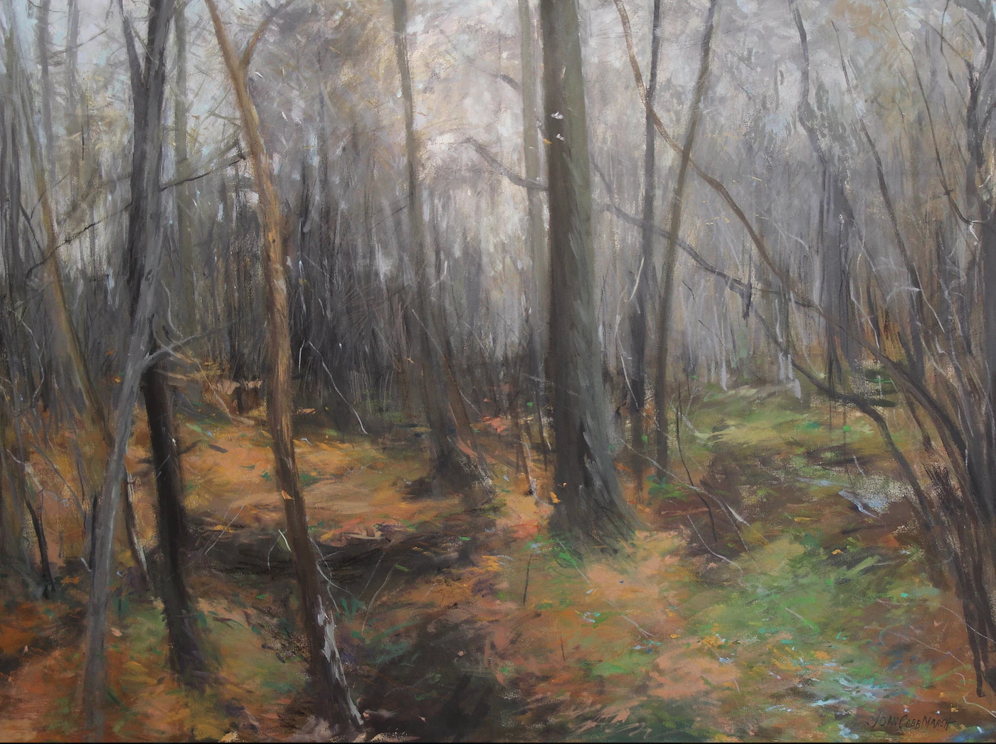 "Painting by Joan Cobb Marsh called ""Late Fall"" will be on silent auction benefitting the PCT."