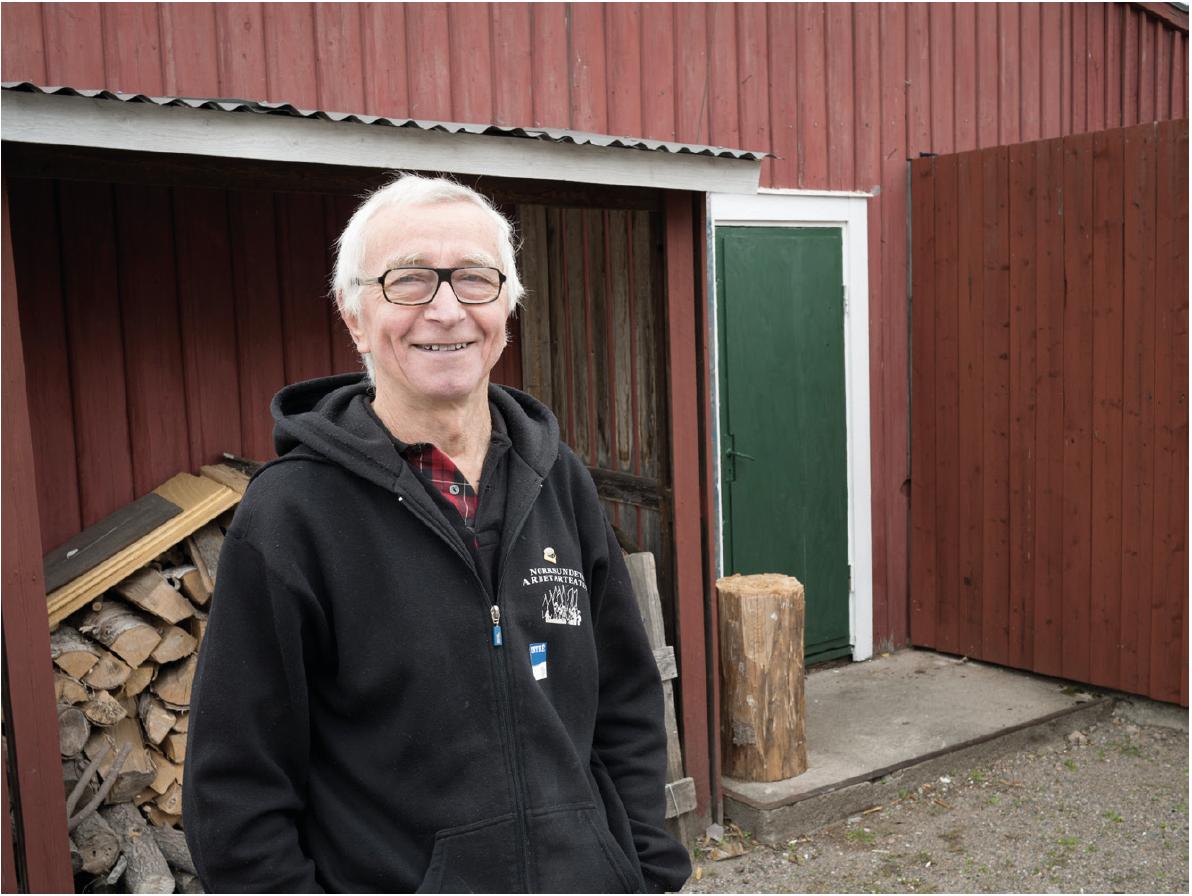 Curt Carlsson är en av eldsjälarna och en sann veteran i Norrsundets Arbetarteater