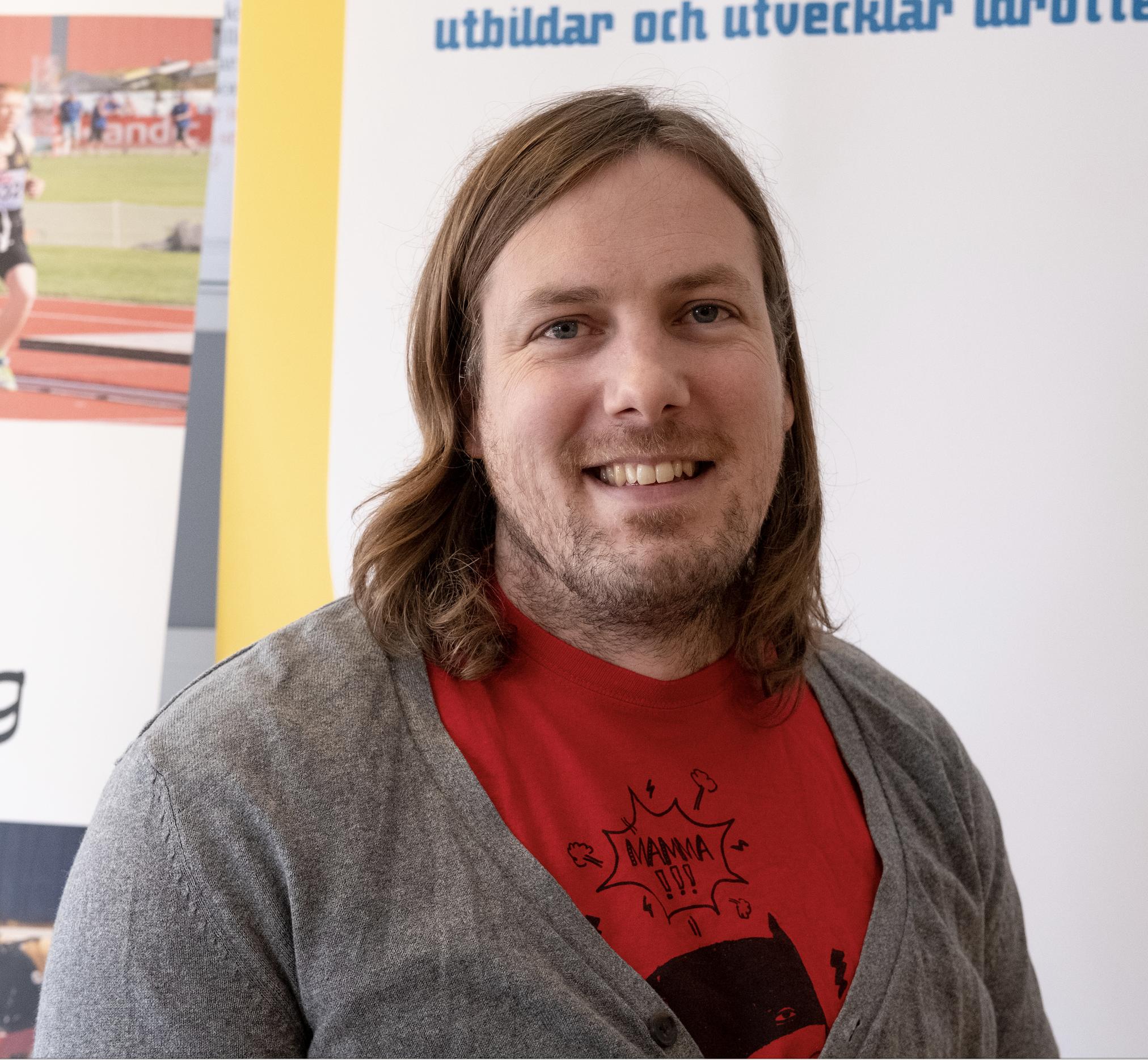 Christian Hedberg, föreläste och demonstrerade sin idrott. Foto: Johan Beijer, KUXAGRUPPEN AB