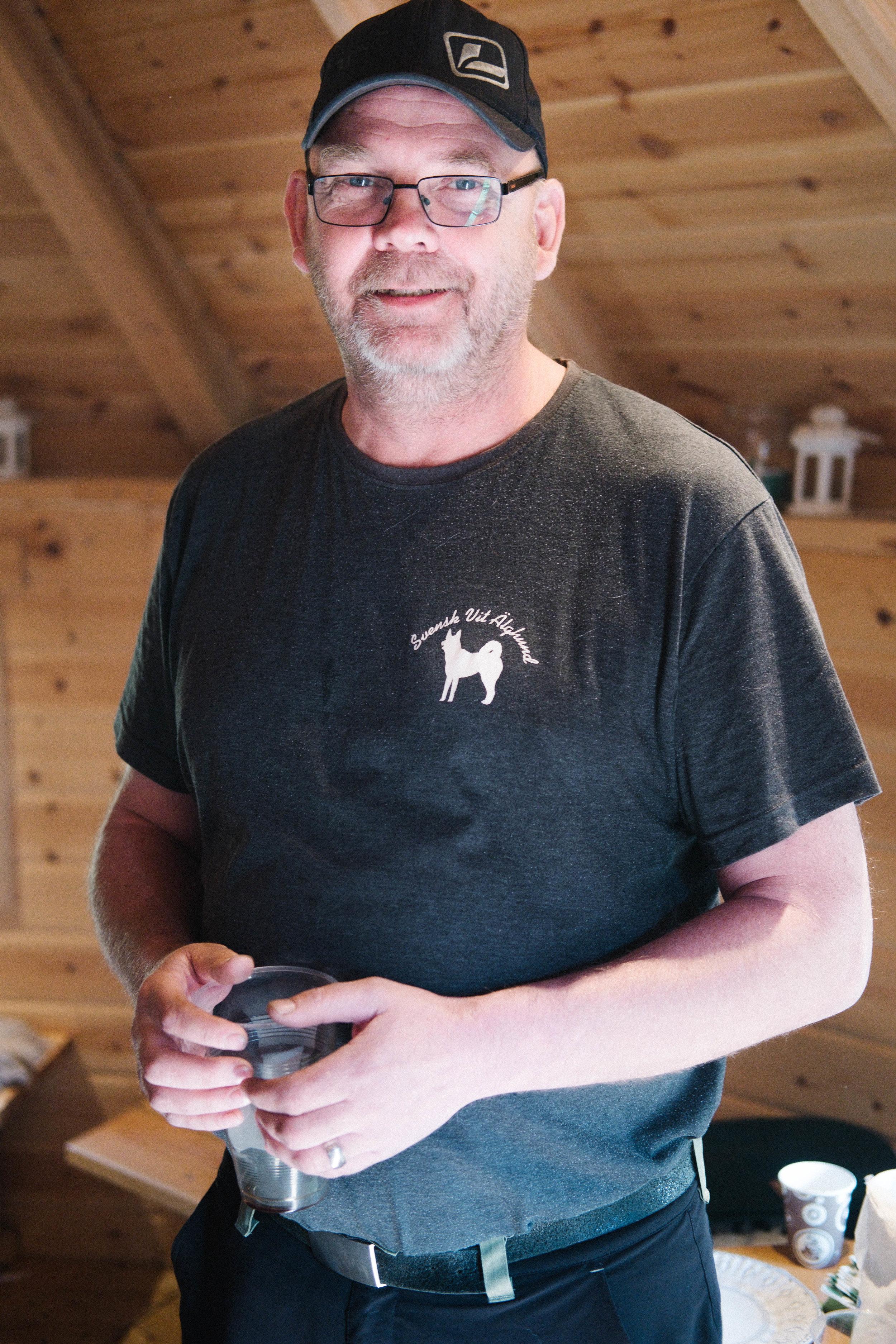 Roger Lindberg tog initiativet till klubbens besök i Ockelbos Älgpark.