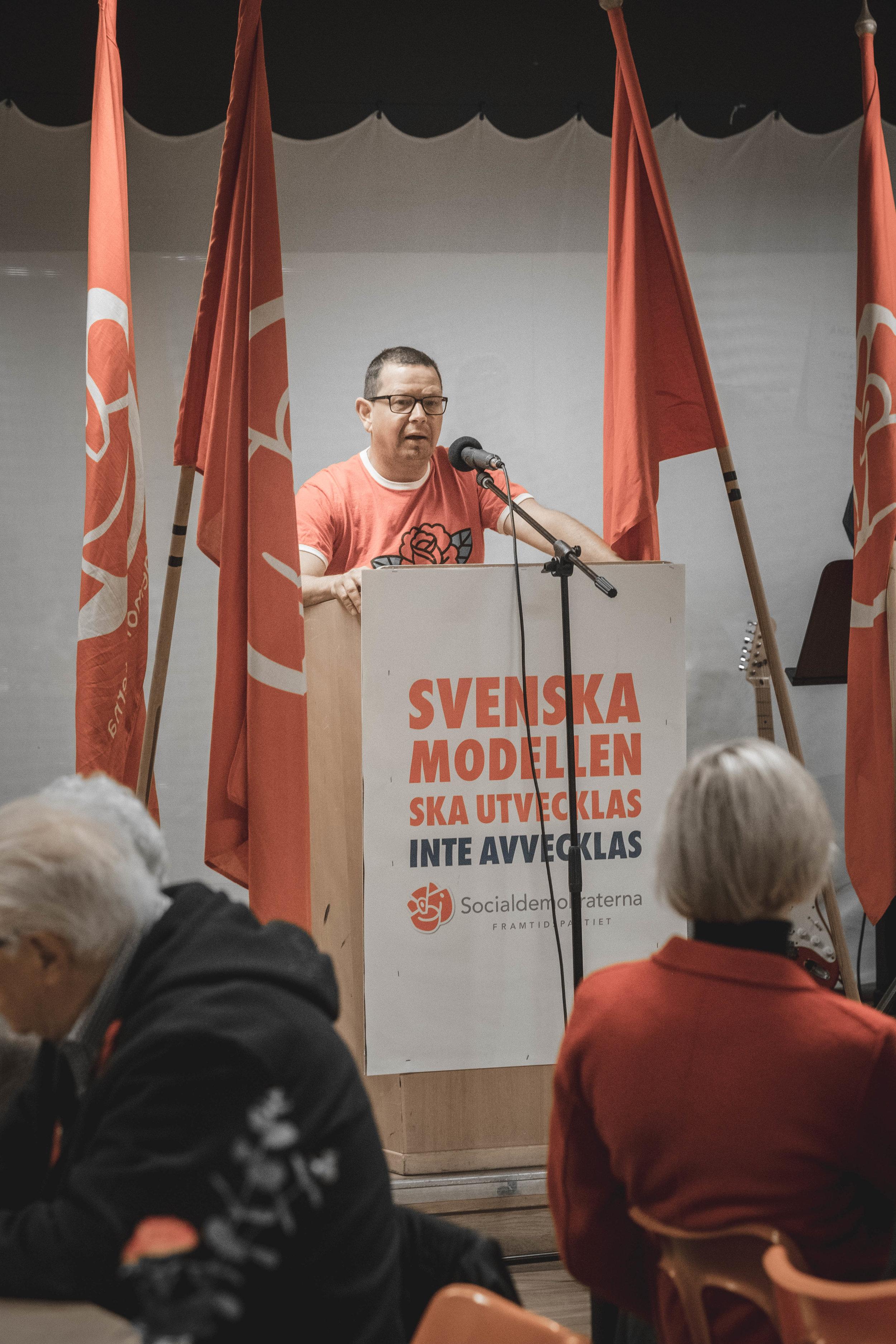 Patrik Jonsson, ordförande Arbetarekommunens styrelse i Ockelbo.