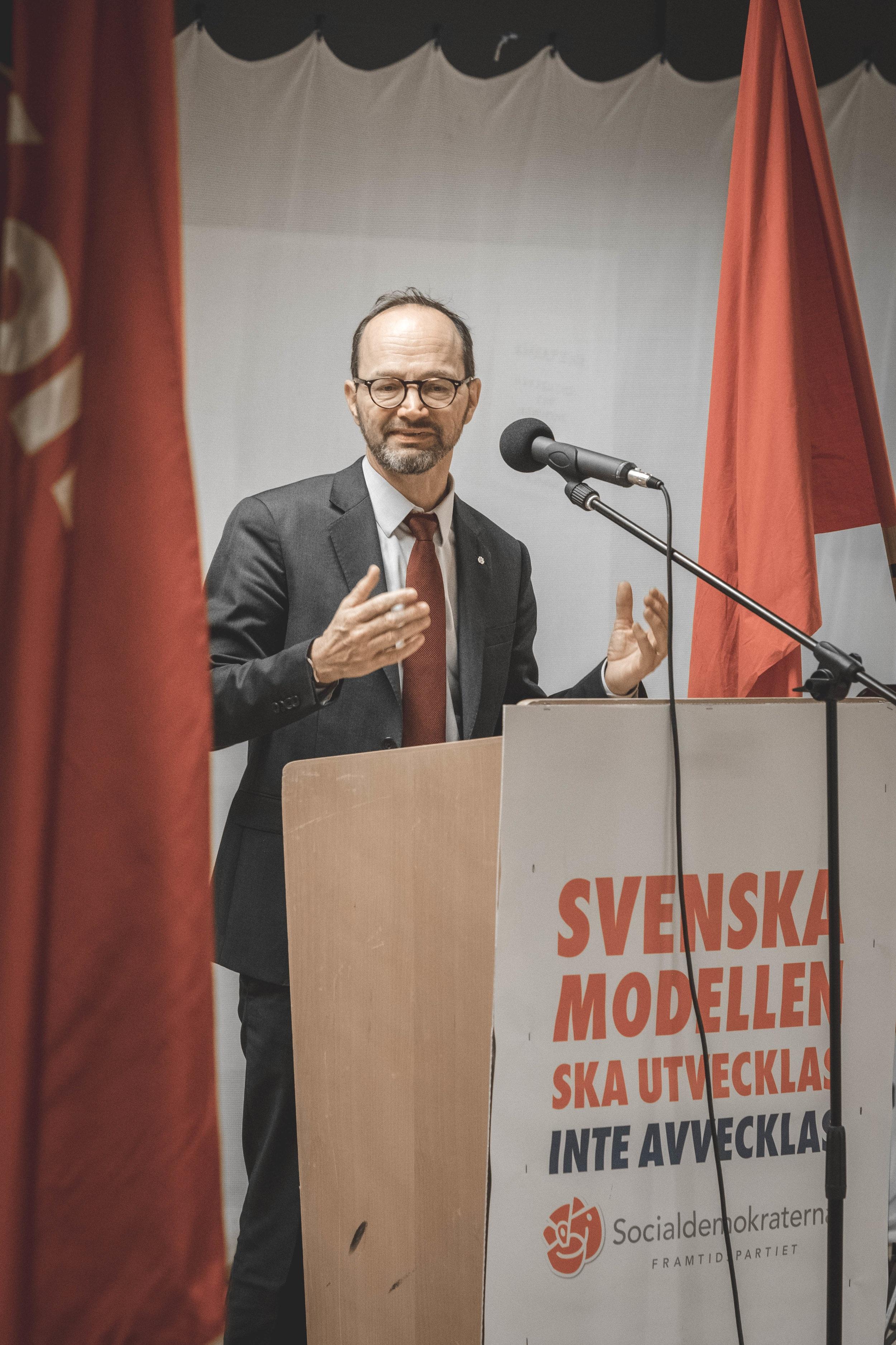 Infrastrukturminister, Tomas Eneroth.