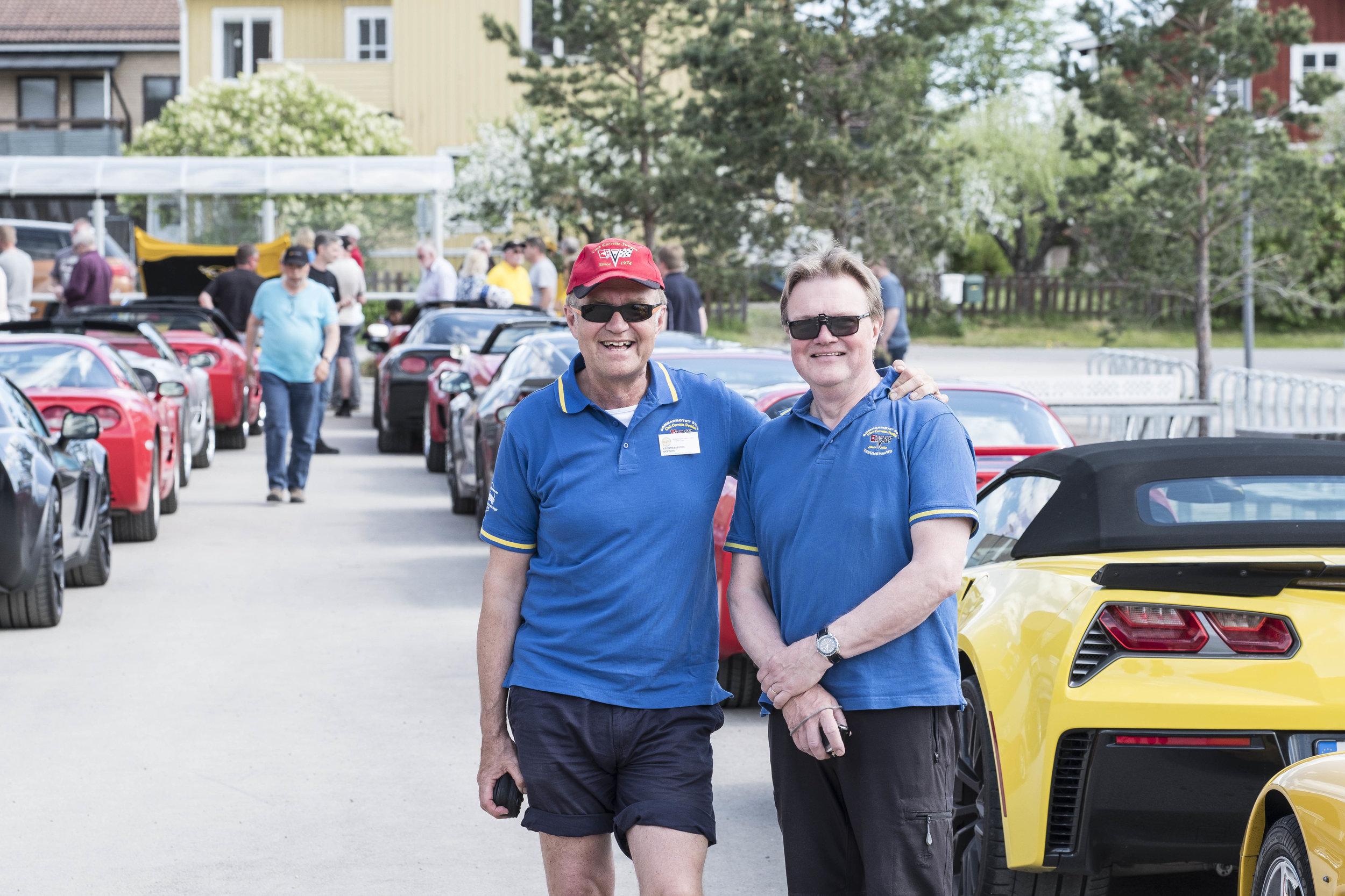Krister Larsson och Benny Eriksson, på Corvetteträff 2018. Foto: Johan Beijer, KUXAGRUPPEN AB