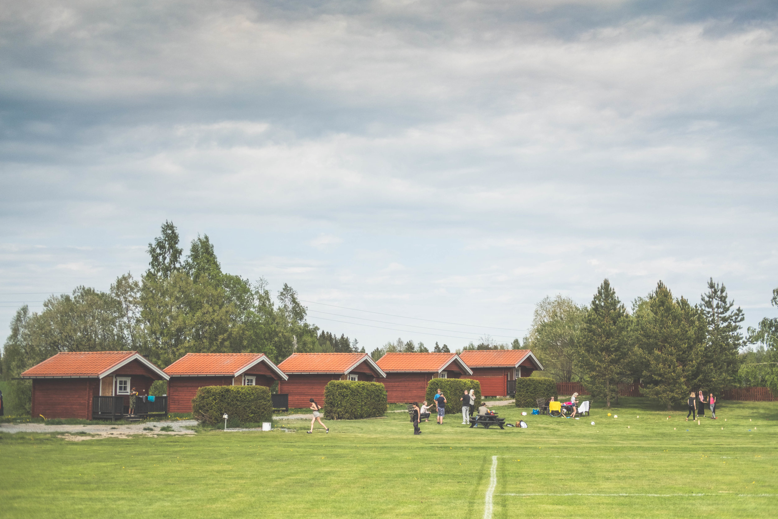 Stugor för övernattning vid Åbyggeby Landsbygdscenter FOTO: Mattias Färnstrand, Kuxagruppen AB