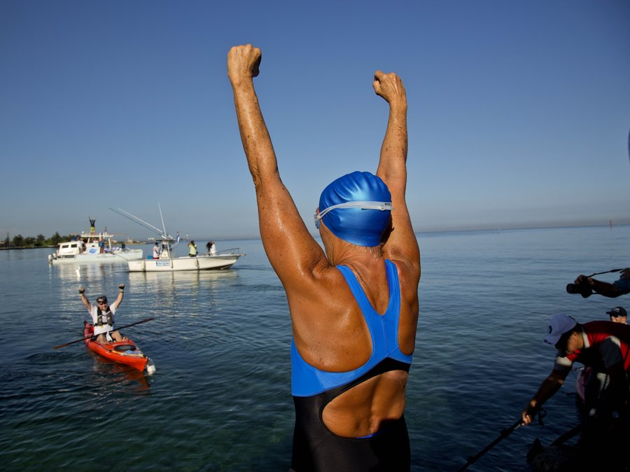 Diana Nyad - Who hold the world record for longs Open Water Swim.
