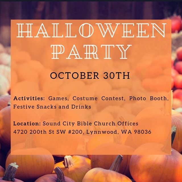 Excited for our time together tonight from 6:45p-8:30p at the church office. Reminder to wear a costume for a chance to win a prize. And parents if you haven't already signed up to bring food, please check your email and sign up to contribute something yummy.