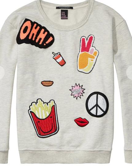 honeyidressedthepug-scotchandsoda-sweatshirt-grey-patch-patches-trend-trendalert-twinning-blog-fashionblogger-petfashionblogger-spring-summer-fun