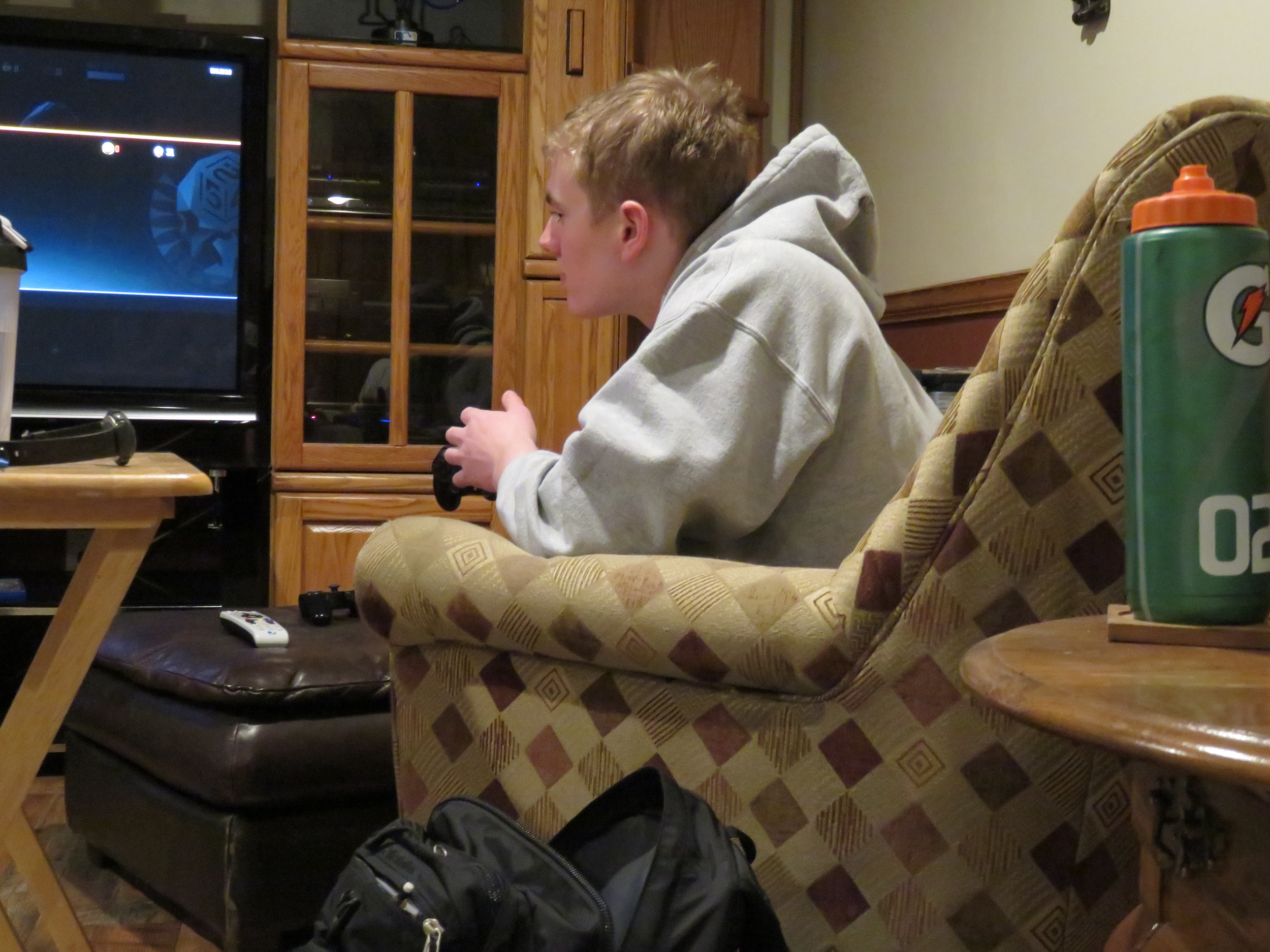 John playing some Call of Duty.