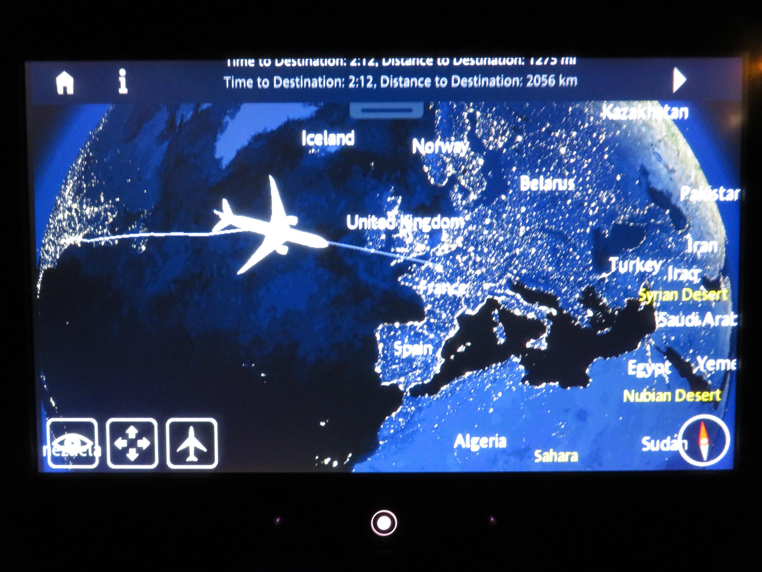 Air France air show en route to Paris