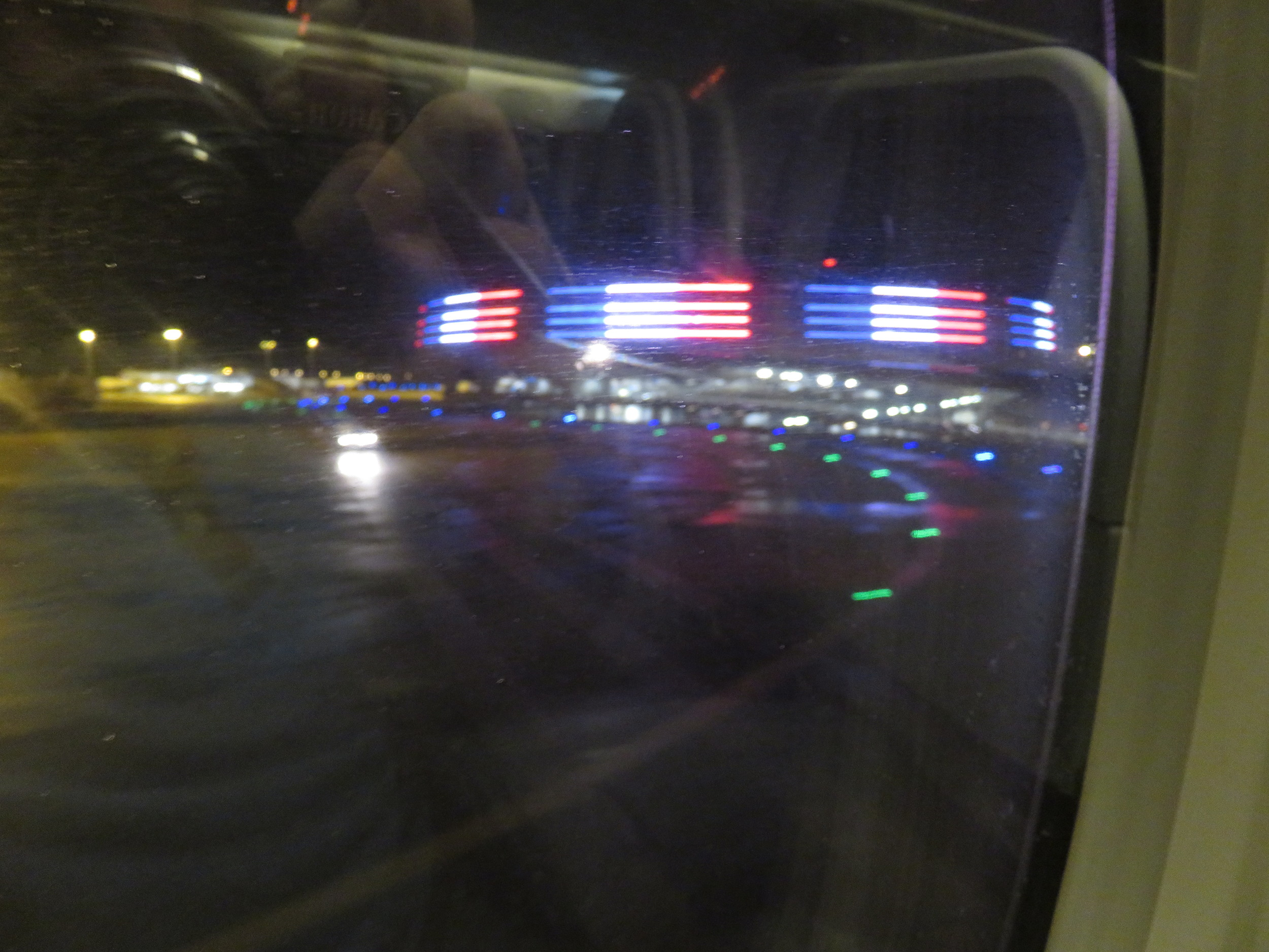 Taxing past terminal 1 at Charles De Gaulle