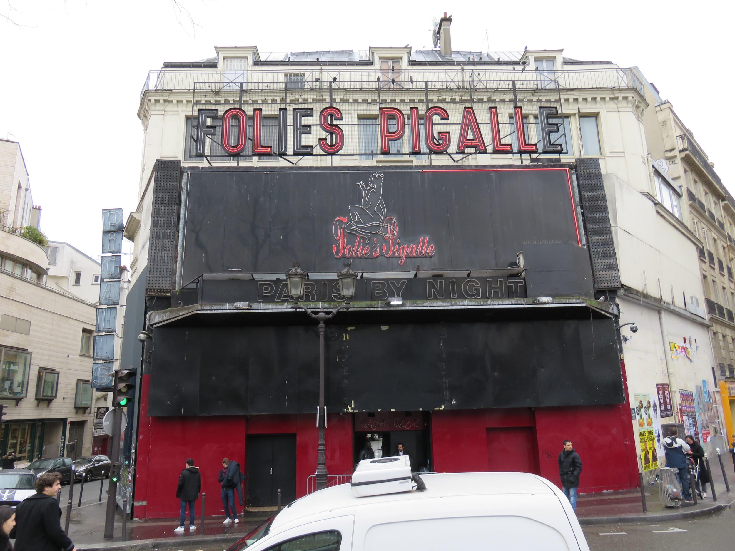 What I assume to be a Paris strip club