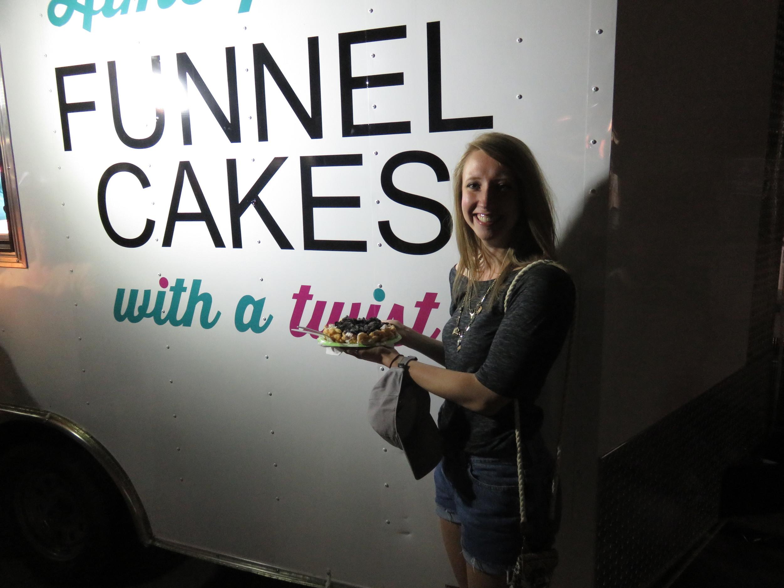Elizabeth and her funnel cake!