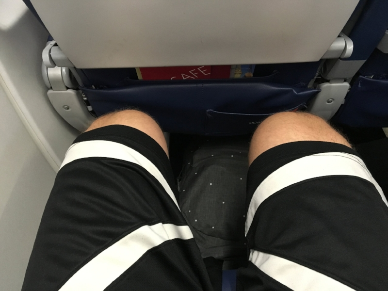 Leg room is hard to come by when you're 6'3""