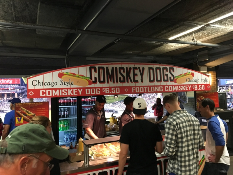 Comiskey Dog stand at Guaranteed Rate Field