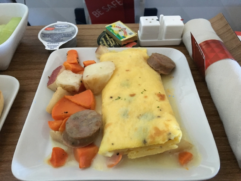 Delta domestic first class breakfast