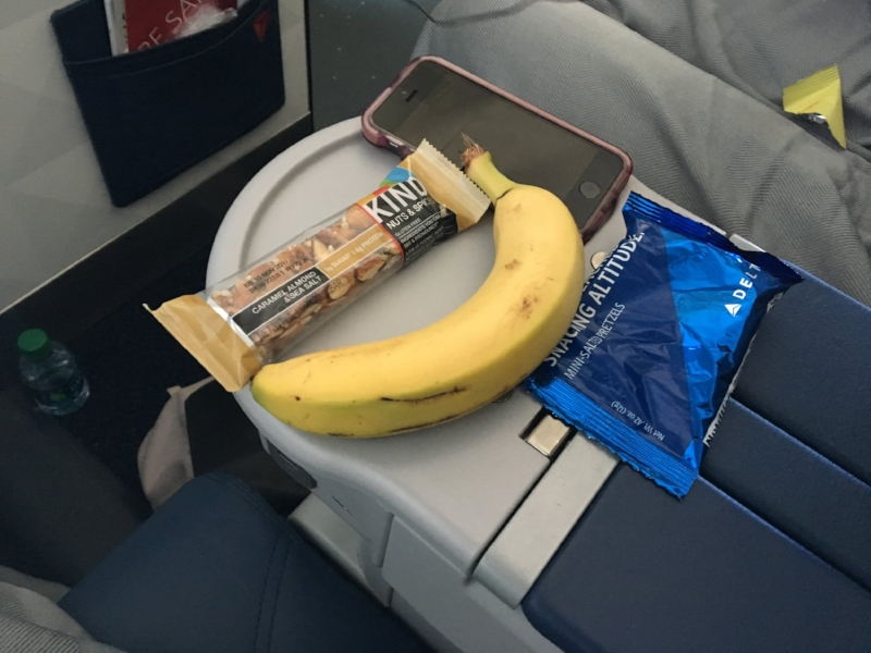 No, the iPhone wasn't a part of the snack basket