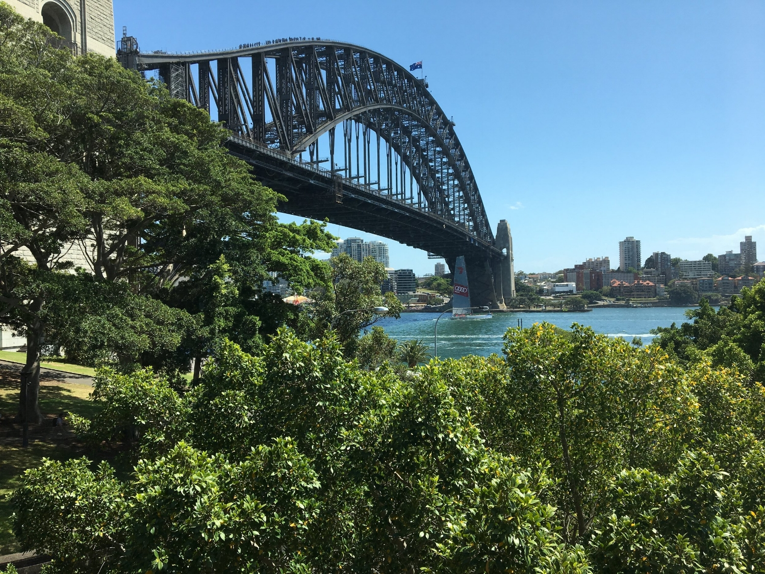 View from our room at the Park Hyatt Sydney