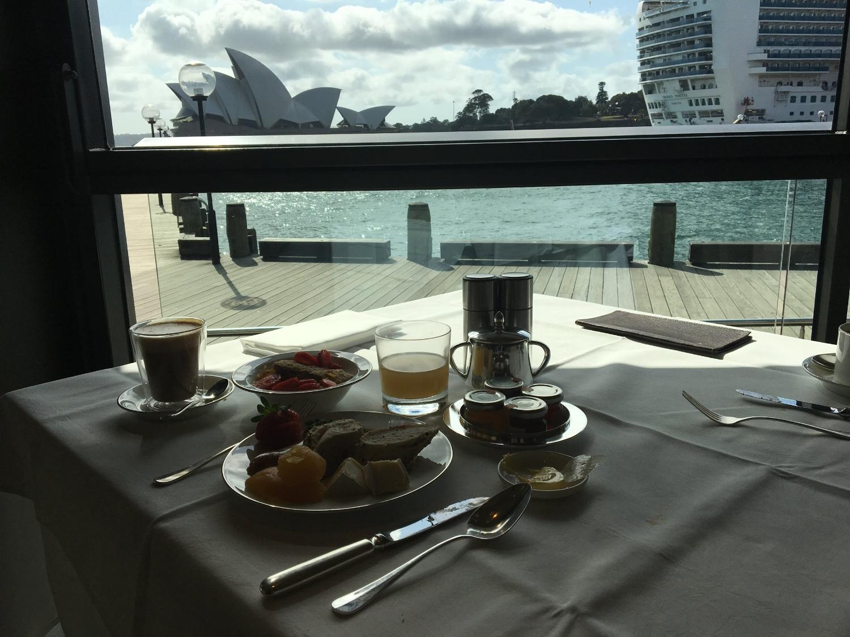 Breakfast views from the Park Hyatt Sydney
