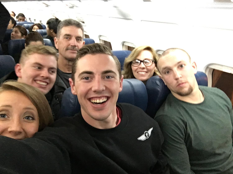 Mandatory plane selfie
