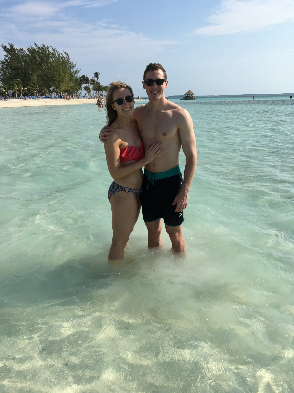 Beautiful beach, beautiful gal. They go hand in hand