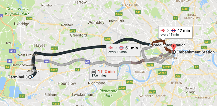 GOOGLE MAPS IS A LITTLE ON THE OPTIMISTIC SIDE