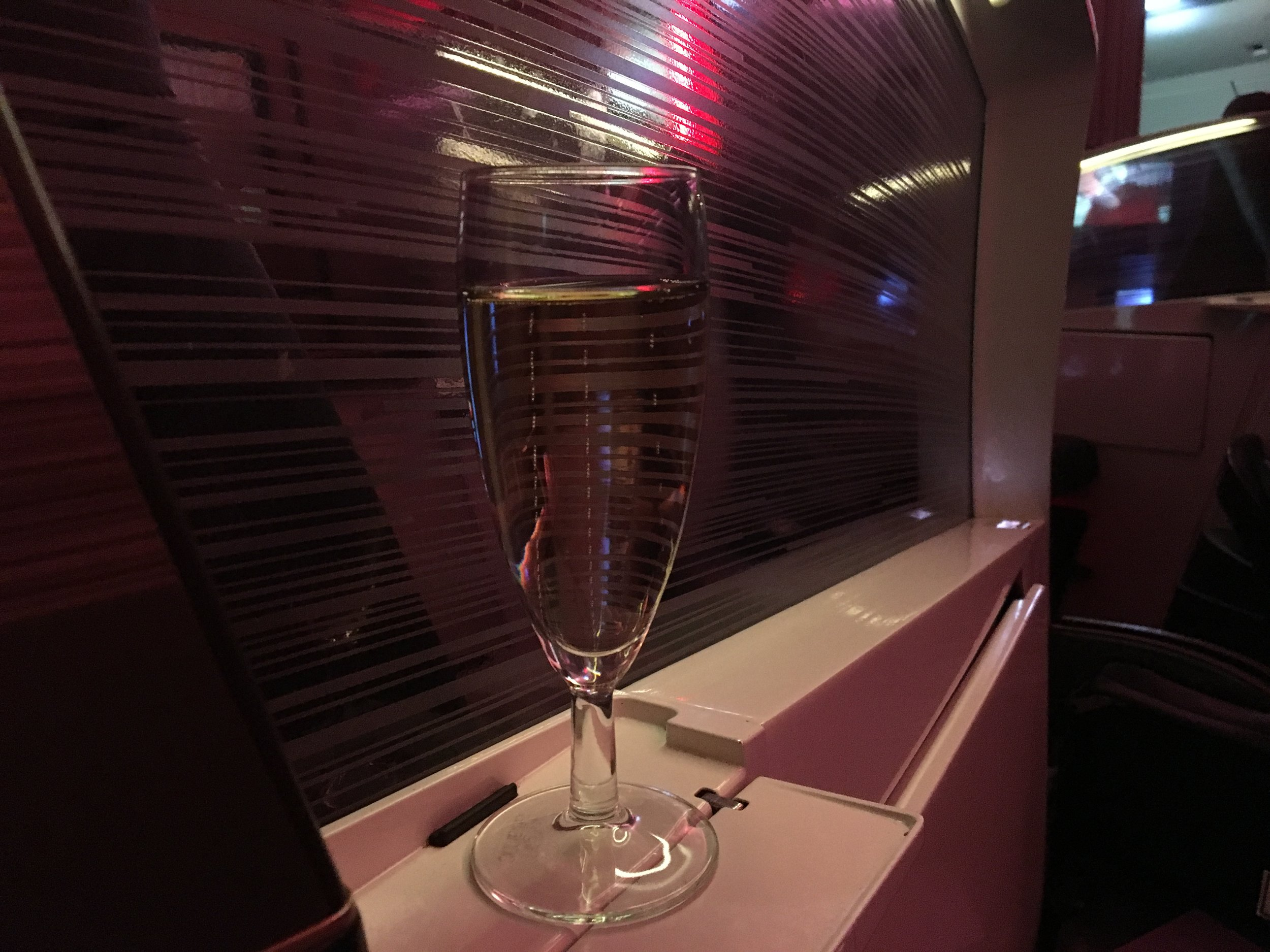 VIRGIN ATLANTIC UPPER CLASS champagne