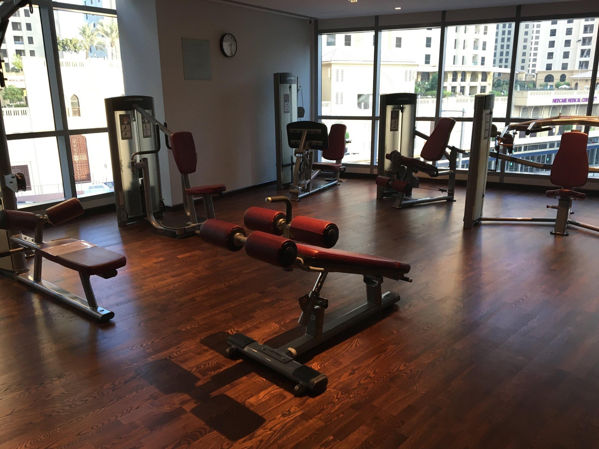 intercontinental dubai marina gym