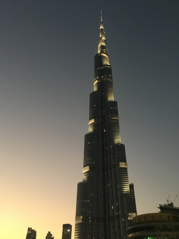 sunset on the burj khalifa