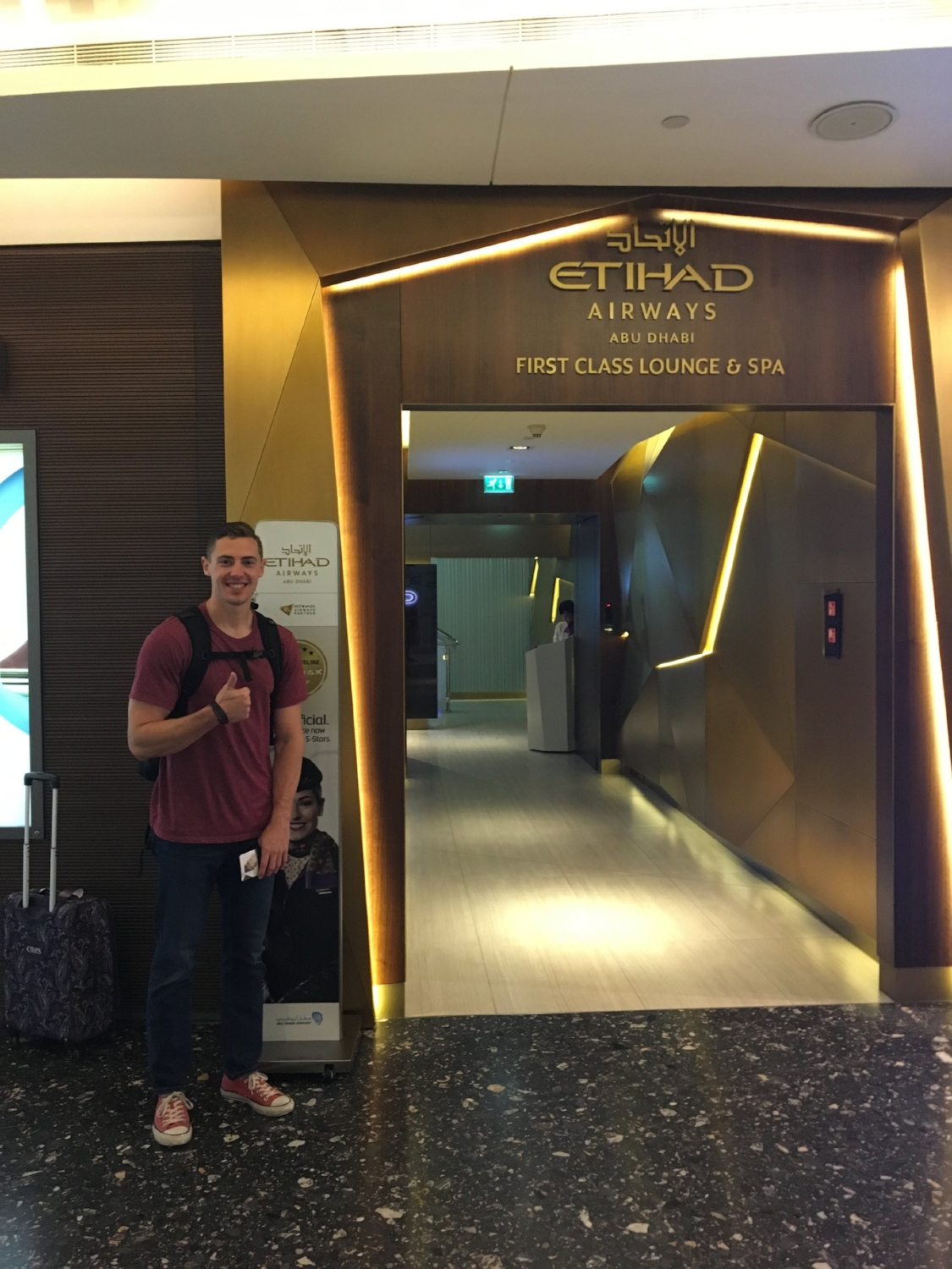 STOKED TO VISIT THE ETIHAD FIRST CLASS LOUNGE