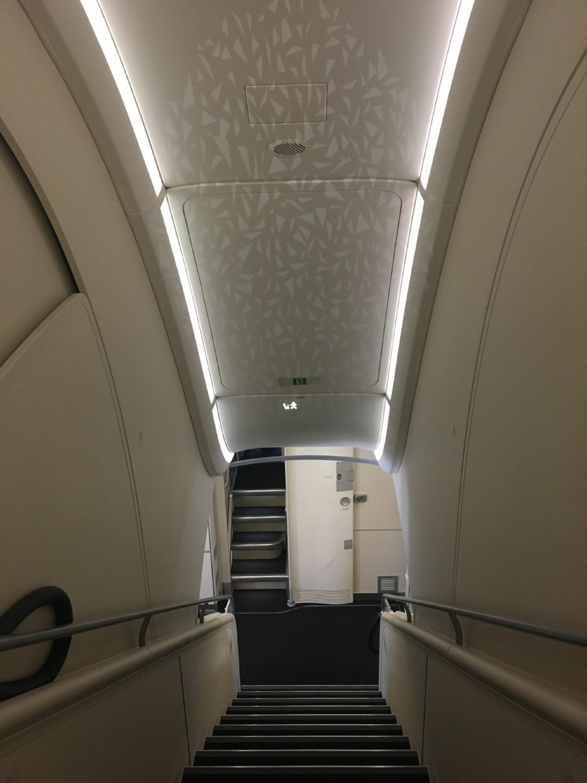 ETIHAD A380 STAIRWELL