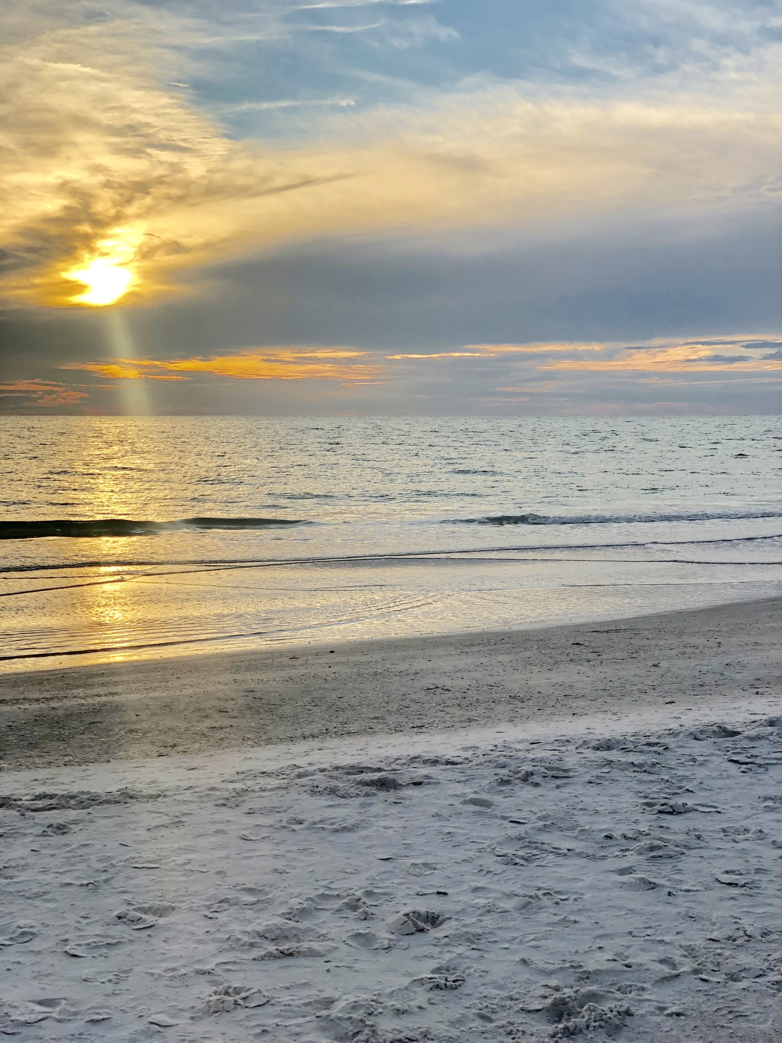 Stunning sunsets on Anna Maria Beach are just 300 steps away!