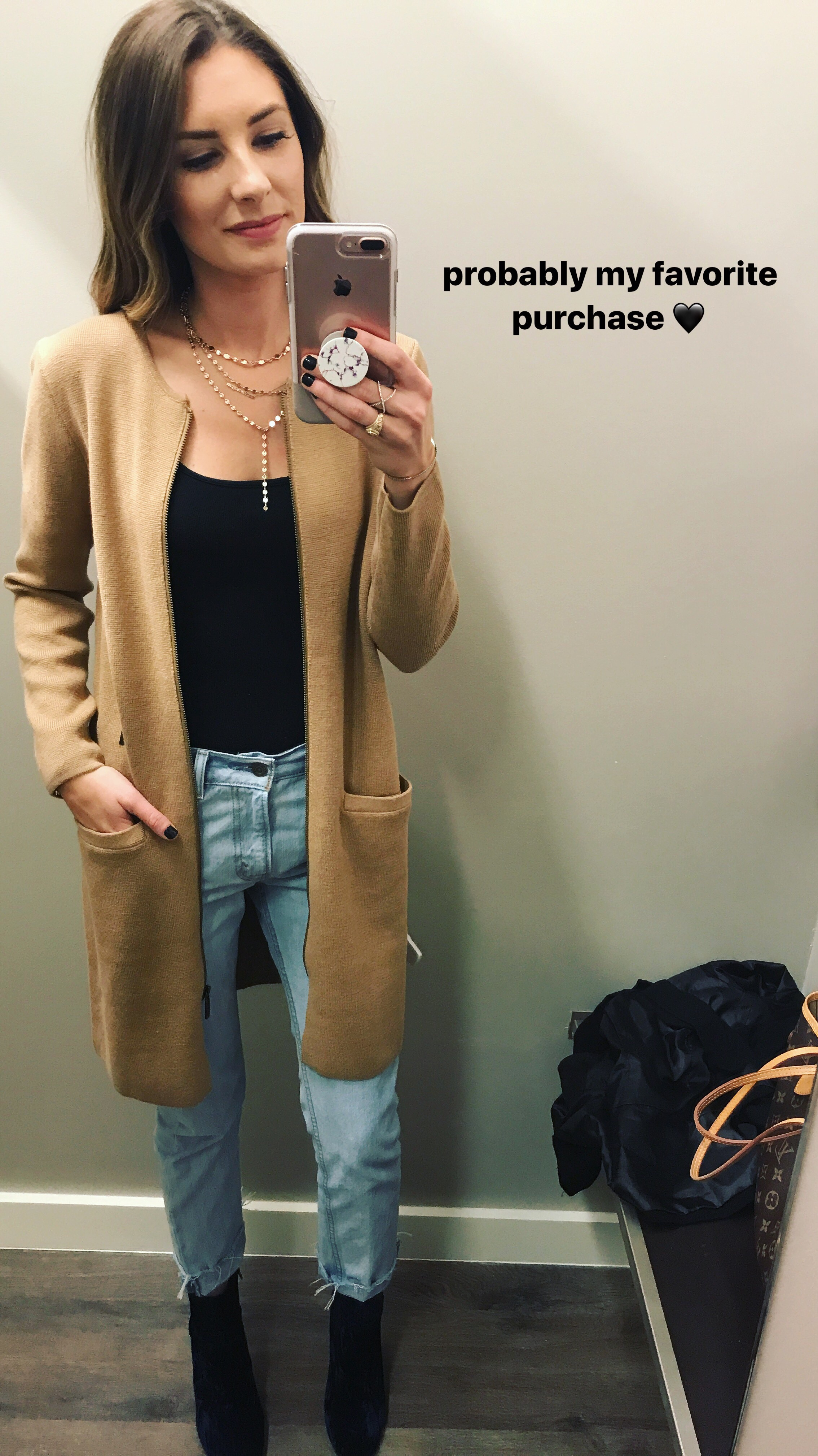 This zip-up cardigan is from the Banana Republic Factory, and I'm beyond obsessed!