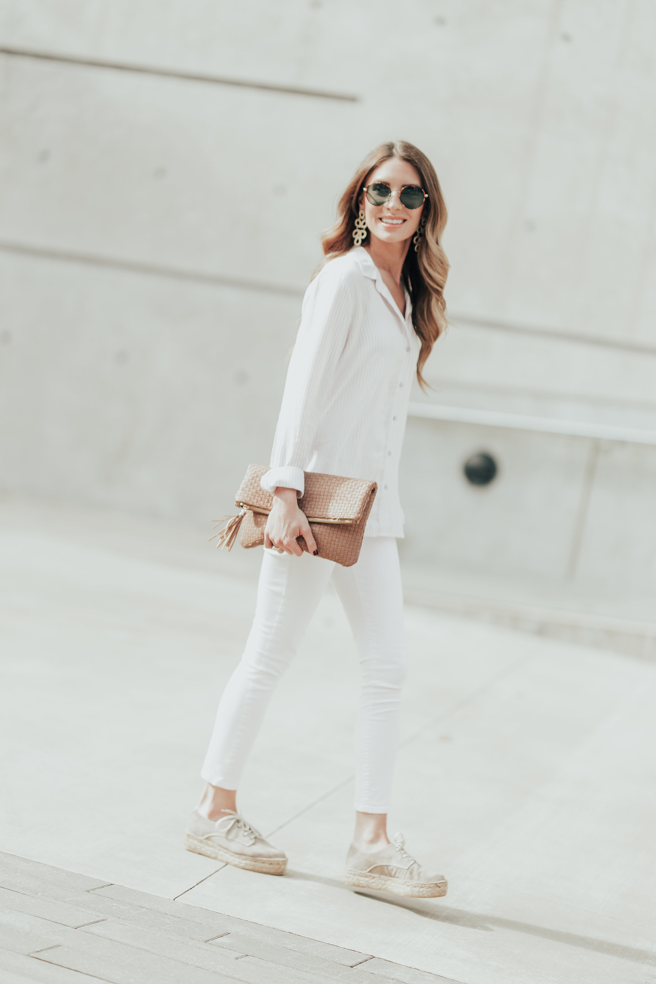 All White + Espadrilles