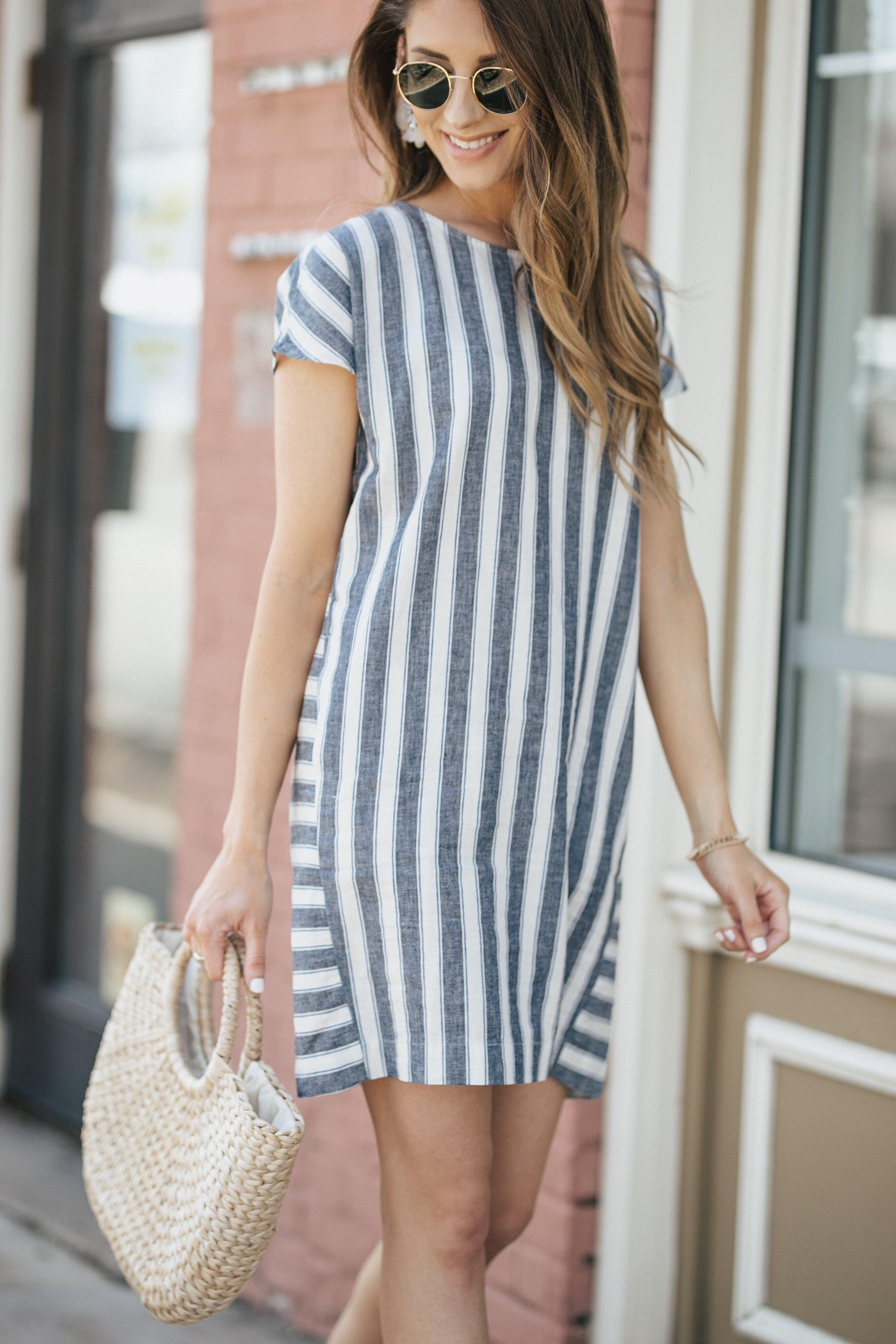 Striped Madewell Dress