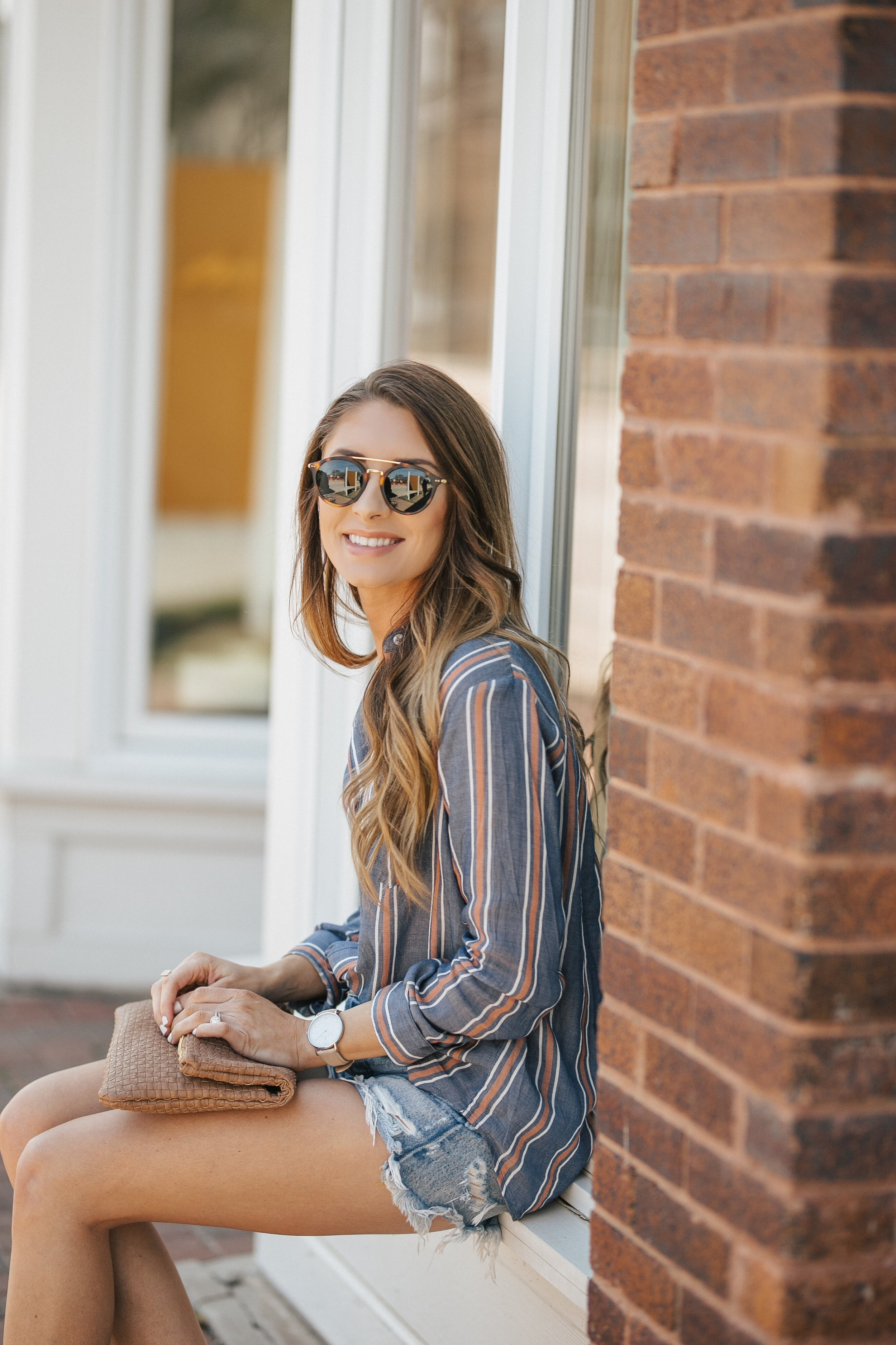 Button Down + The Best Denim Shorts