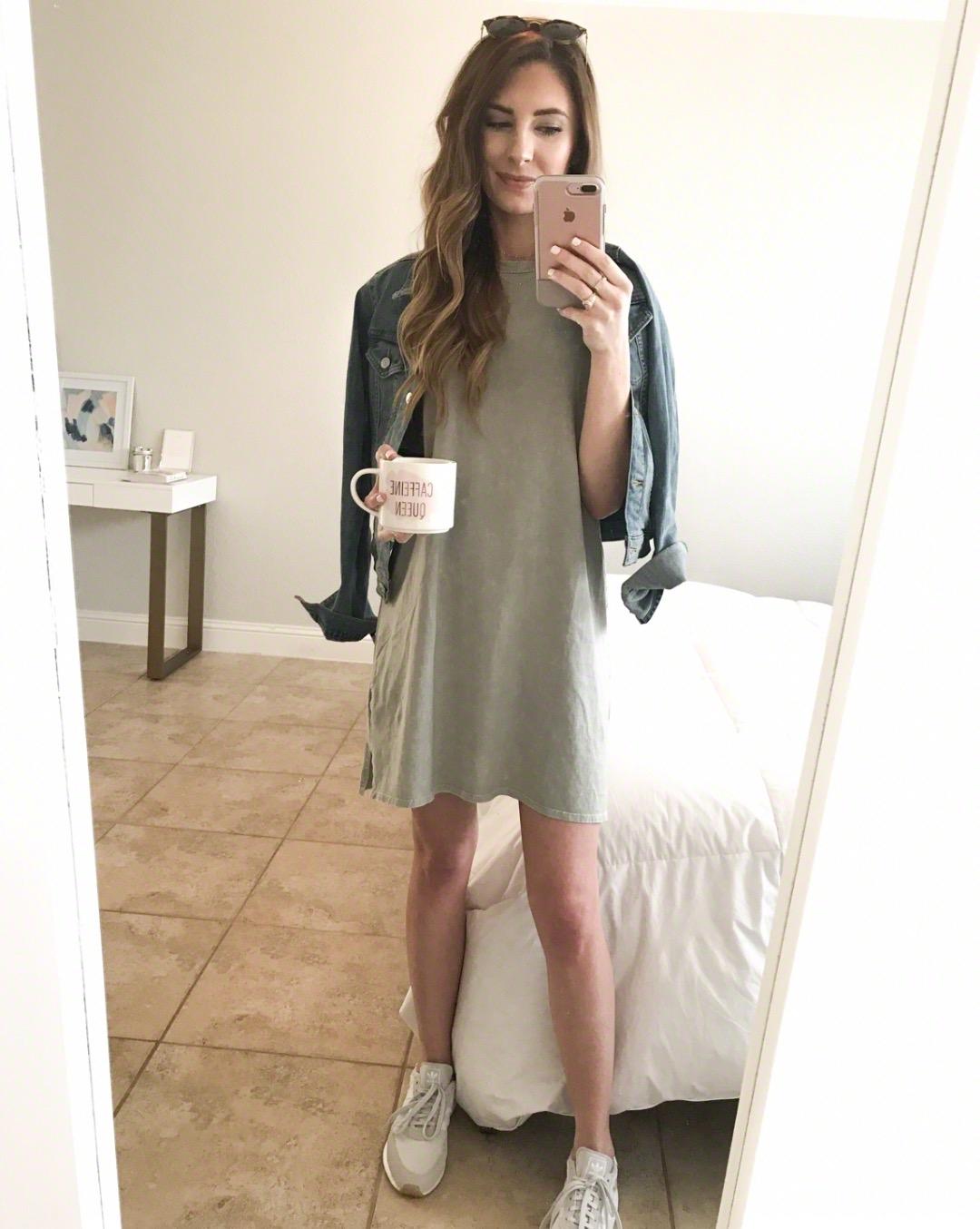Casual OOTD - Dress + Denim Jacket